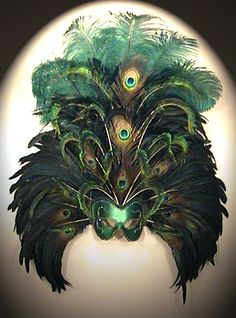 In search of a feather-mask for an upcoming theme Halloween party.