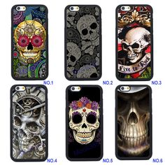 Customized Skull Silicone Case For iPhone 4s 5 5s SE 5C 6 6S Plus iPhone 7 Plus