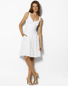 Ralph Lauren - White Cordera Eyelet Dress
