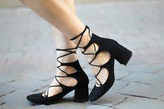 Lace-Up Zara Heel Shoes by fashionismygf.com