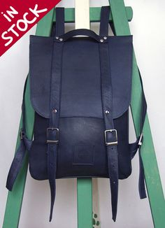handmade leather back pack. LOVE this. NEED this.