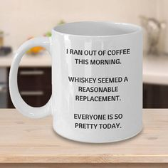 Funny coffee ceramic coffee mug Whiskey coffee mug birthday
