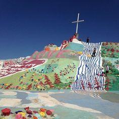 A Desert day trip. Salvation mountain