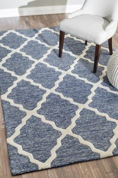 $5 Off when you share! Tuscan Trellis VS142 Navy Rug | Contemporary Rugs #RugsUSA