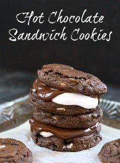 Hot Chocolate Sandwich Cookies