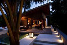 holzhaus abend alila villas hadahaal exklusives resort auf malediven
