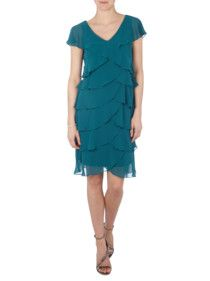 Esprit collection cocktailkleid blau