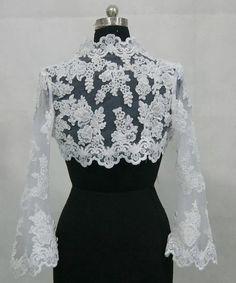 short lace bridal jacket