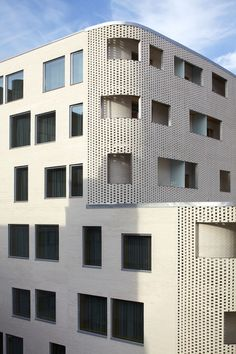 Ivory white brick, Paasitorni Hotel /K2S Architects