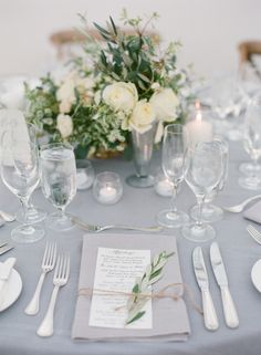 Romantic Ivory + Grey Ojai Valley Inn Wedding - Style Me Pretty