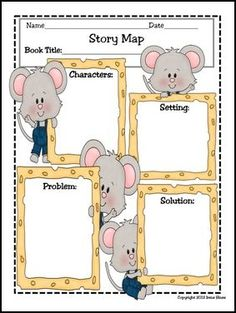 """FREE LANGUAGE ARTS LESSON - """"Free Story Map Printable: Setting, Characters, Problem, Solution"""" - Go to The Best of Teacher Entrepreneurs for this and hundreds of free lessons. Kindergarten - 6th Grade   #FreeLesson   #LanguageArts   http://www.thebestofteacherentrepreneurs.net/2016/05/free-language-arts-lesson-free-story.html"""