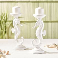 Two's Company Seahorse Pillar Candle Holders, Set Of 2 – Modish Store