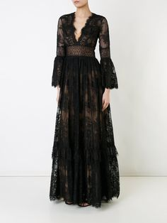 Zuhair Murad v-neck lace gown