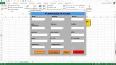 Excel VBA  -  Comment créer un Formulaire de Saisie (Module n° 3)