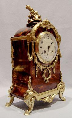 nglés antiguo carey victoriano y reloj de bronce dorado firmado Mappin &…