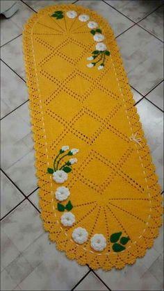 How to Crochet the Modified Daisy Stitch Crochet Mat, Crochet Mandala Pattern, Crochet Flower Patterns, Crochet Diagram, Doily Patterns, Crochet Home, Filet Crochet, Crochet Designs, Crochet Flowers