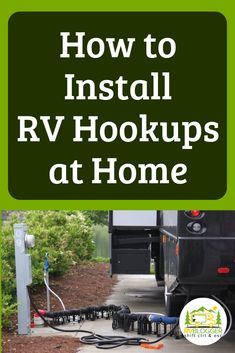 Ever wish you had an RV full hook up system at your home? Whether you plan to live in your RV on private property or need RV maintenance, having RV electrical hook up at home, along with water and sew Rv Camping Tips, Travel Trailer Camping, Rv Travel, Camping Ideas, Camping Essentials, Camping Products, Family Camping, Travel Trailer Living, Camping Supplies