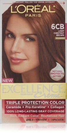 L Oreal Paris Excellence Creme 6cb Light Chestnut Brown