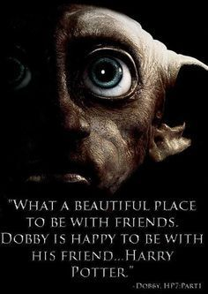 """Here lies Dobby, a free elf."" ♥"