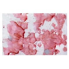 KESS InHouse Iris Lehnhardt 'Soft Pink Splashes' Red White Dog Place Mat, 13' x 18' *** Tried it! Love it! Click the image. (This is an amazon affiliate link. I may earn commission from it)
