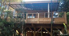 Lodge sur piloti Prestige 8 personnes avec jacuzzi privatif au camping Corse Merendella à Moriani Plage à San Nicolao