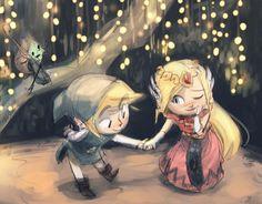 Link asks Zelda for a dance, Zelda accepts, Makar plays wingman. @Sketch_Dailies #Link #HYAAH #Zelda #sketch_dailies pic.twitter.com/umPGD5OkFU