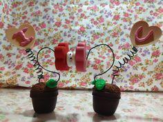 """Spring love Flowers""  [[Polymer Clay]] Tutorial link: http://m.youtube.com/#/watch?v=N6QBExmhSUg_tab=comments"