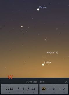 See if you can spot the extremely thin crescent of the Moon above Jupiter just after sunset!!