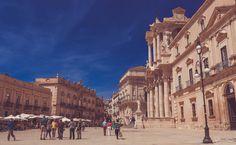 La piazza del duomo, Syracuse, Sicilia
