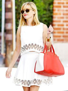 Star Tracks: Friday, July 18, 2014 | WHITE HOT | Reese Witherspoon gets matchy-matchy in a top and skirt set while out and about in Los Angeles on Thursday.