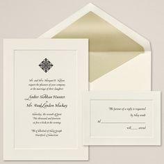 Exclusively Weddings Classic Couture Wedding Invitation is a couture wedding invitation.  This non-folding card has a single panel to beautifully frame your invitation wording.