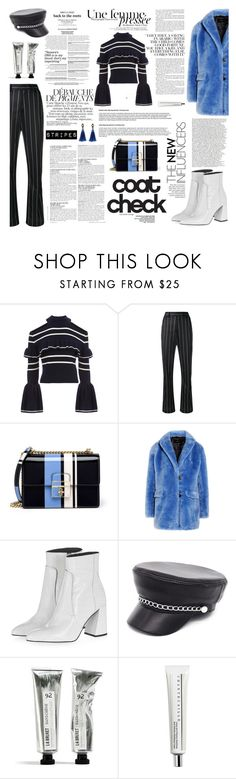 """""""nº 267   Stripes on Stripes"""" by ss-080 ❤ liked on Polyvore featuring self-portrait, MSGM, Dolce&Gabbana, J.Crew, Topshop, McGinn, Chantecaille and Eye Candy"""