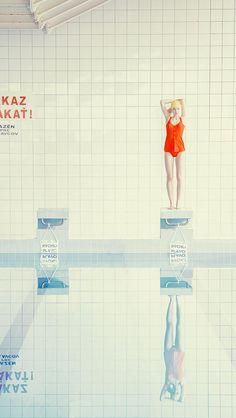 Swimming Pool By Maria Svarbova Fine Art Photography, Fashion Photography, Swimming Photography, Collage Kunst, Pool Paint, Collage Illustration, Female Photographers, Photo Reference, Grafik Design