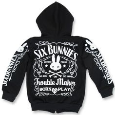 Six Bunnies Trouble Maker Kid's Hoodie