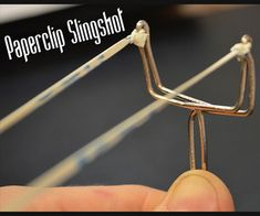Make a slingshot out of a paperclip!