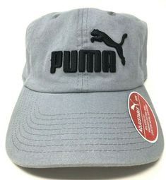 a99e2c5e Puma Logo Unisex Baseball Cap One Size Gray Relaxed Fit Custom Metal  Adjuster #PUMA #