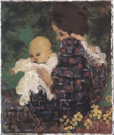 Pierre Bonnard (1867-1947), 1893, Mme Claude Terrasse and her son Jean, oil on canvas.