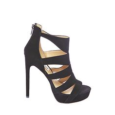 SPYCEE BLACK SUEDE women's dress high strappy - Steve Madden