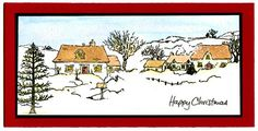 Clear Stamps - Country Scenes Set Christmas Villages, Christmas Art, Country Scenes, Art Impressions, Art Cards, Xmas Cards, Clear Stamps, Diy Art, Stamping