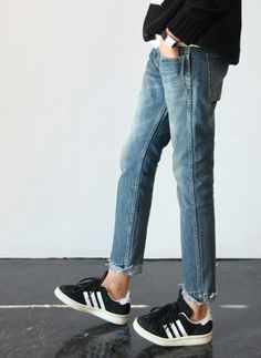 Denim and sneakers #classic #style #casual