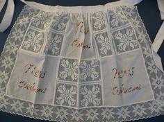 Vintage Apron New Orleans Louisiana Souvenir White by TomCatBazaar