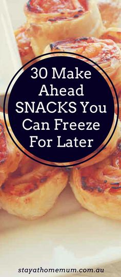 30 Make Ahead Snacks You Can Freeze For Later - Food - Appetizers Easy Freezable Appetizers, Frozen Appetizers, Make Ahead Appetizers, Wedding Appetizers, Appetizer Recipes, Bacon Appetizers, Christmas Appetizers, Party Food You Can Freeze, Meals You Can Freeze