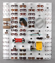 Locking Eyeglass Frame Displays : OpticalDisplays.com Eyewear and Optical Frame Display ...