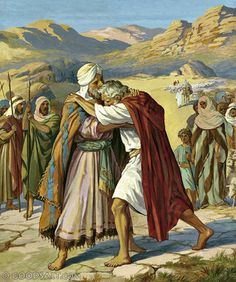 Jacob bowed down seven times before he reached his brother Esau.  Would this be the 'how many times are we to forgive in action?  70 X 7'  Genesis 33:3