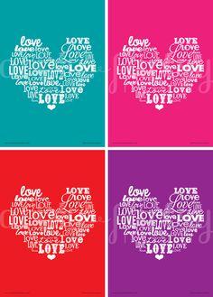 artsy-fartsy mama: {Free Printable} Love Word Art