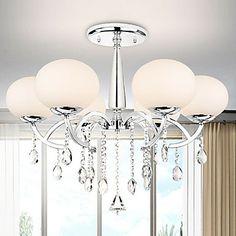 6 elegante lustre moderno luz com sombra mundial – BRL R$ 483,61