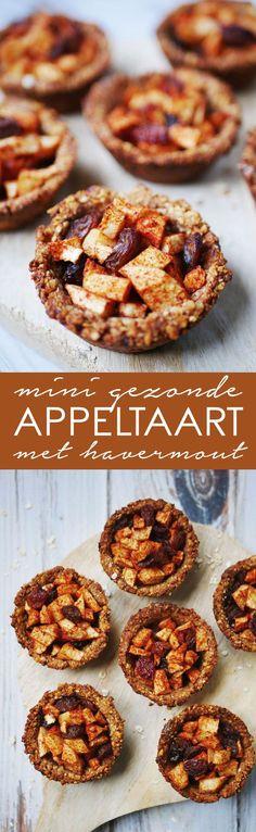 Heerlijke en gezonde mini appeltaartjes met maar 6 ingrediënten!