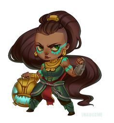 Took another shot at chibis and made an Illaoi... / 404 ERROR LOAD