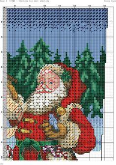 Santa with List Stocking 2/6