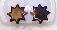 Vintage Brown Star Screw On Earrings Cookie Cutters, Star, Brown, Earrings, Vintage, Ear Rings, Stud Earrings, Ear Piercings, Brown Colors